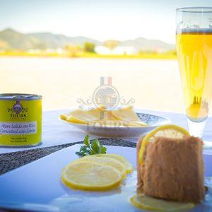 Atum sólido em óleo comestível e limão